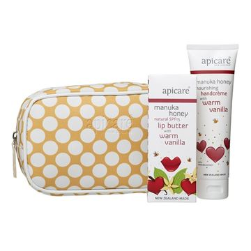 Picture of Gift bag with Warm Vanilla hand crème & lip butter