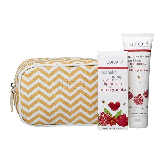 Picture of Gift bag with Pomegranate hand crème & lip butter