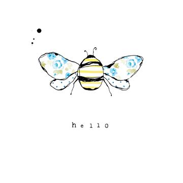 Picture of Bee Card - Hello